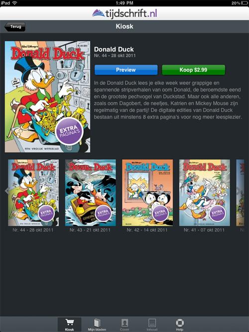 Donald Duck Weekblad iPad sample