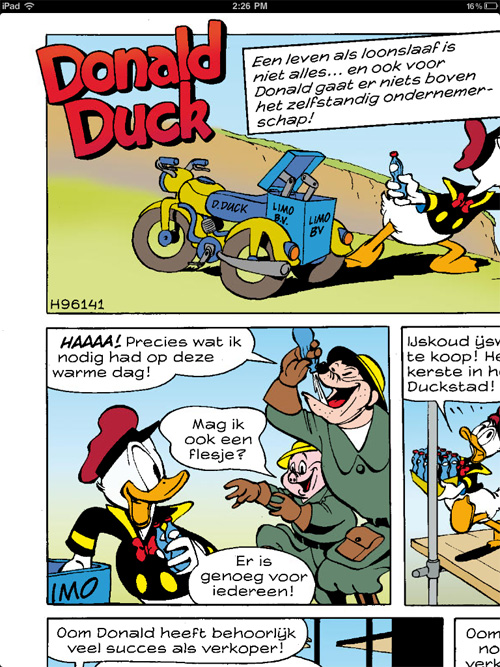 Donald Duck Weekblad iPad sample