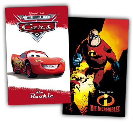 Cars and The Incredibles hardcover books by BOOM! Studios
