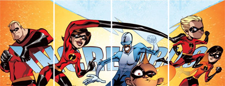 Four The Incredibles covers by Boom! Studios