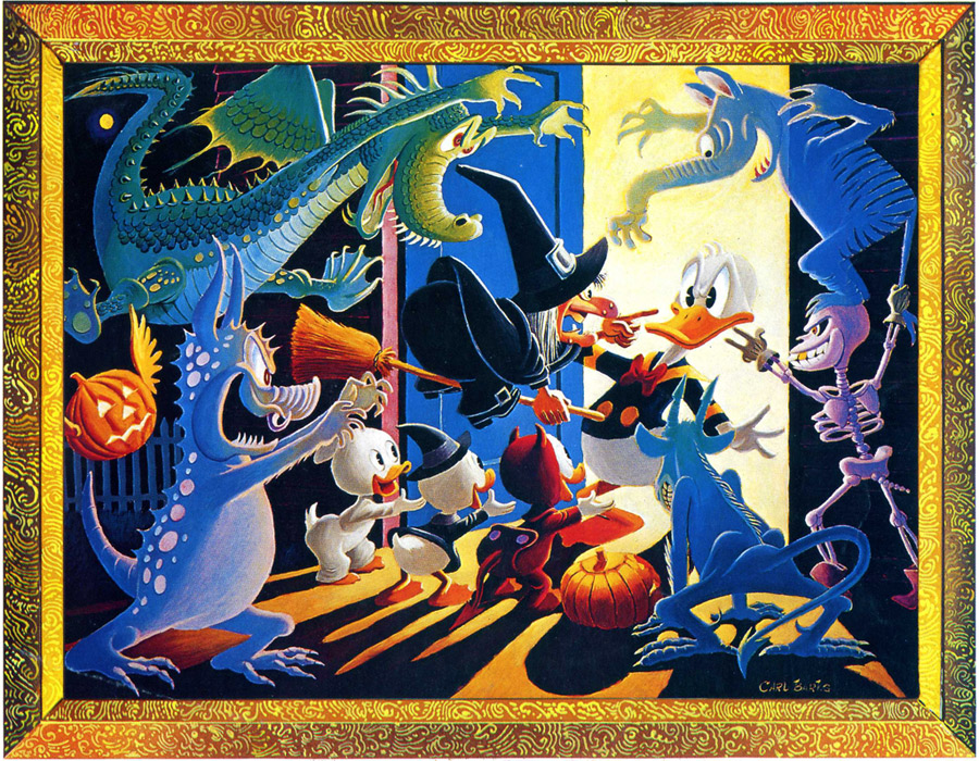 halloween in duckburg by carl barks