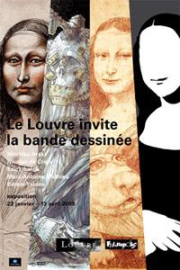 Comic strip art at the Louvre in Paris
