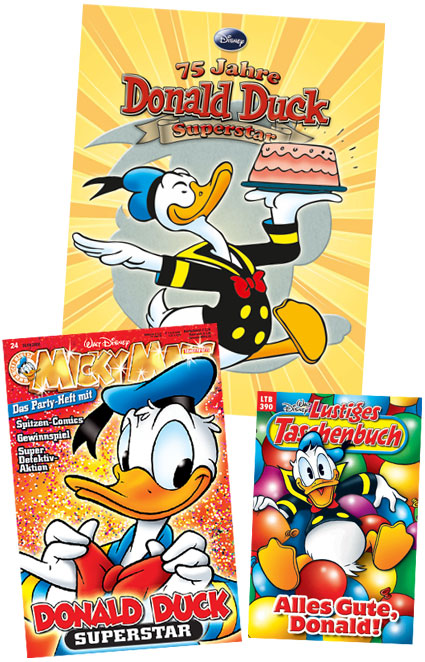Donald Duck 75th Anniversary titles in Germany