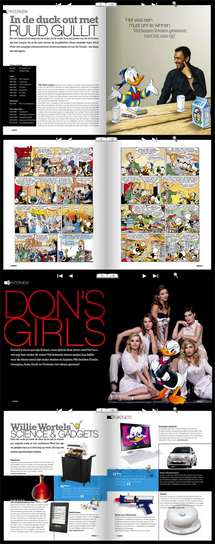 Pages from Dutch Donald men's magazine