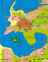 Section of map of Duckburg