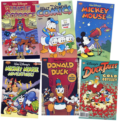 Disney comics by Gemstone Publishing