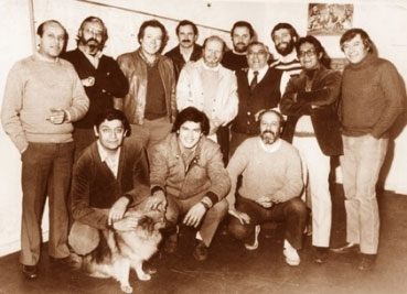 Jaime Diaz Studio staff photo from 1984