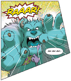 Panel from Monsters, Inc. issue 1