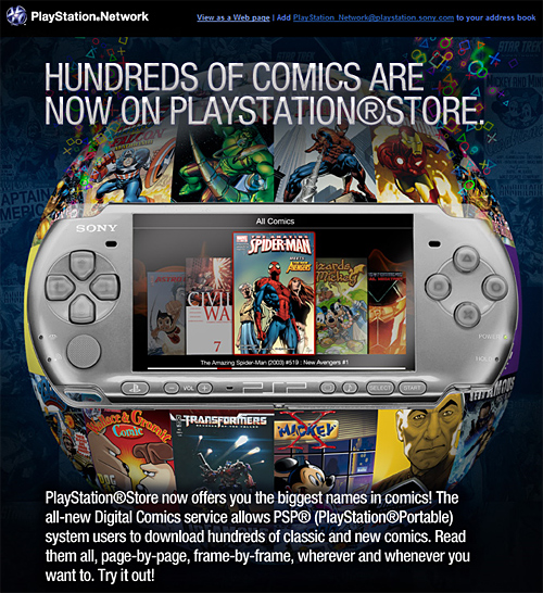 Playstation Network Digital Comics Ad