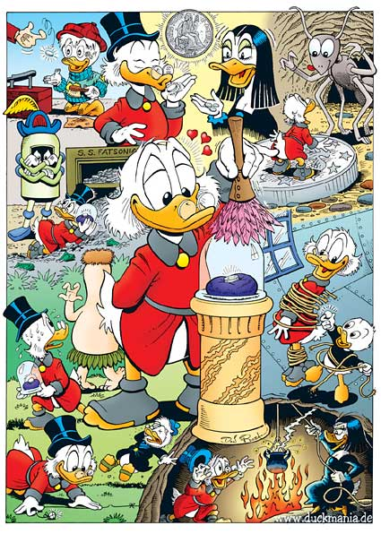 Don Rosa's February Uncle Scrooge poster