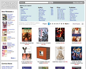 Universe of Comics Homepage