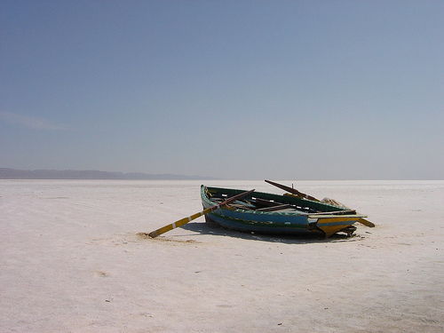 Chott El Jerid salt lake Tunisia