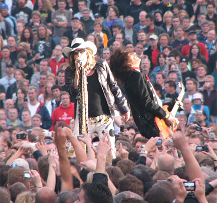 Steven Tyler and Joe Perry of Aerosmith @ Arrow Rock Festival 2007