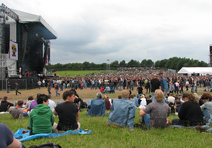 Rock Garden, the largest of three stages @ Arrow Rock Festival 2007