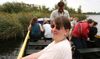 Amy in boat at Botshol