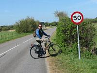Arthur on bike