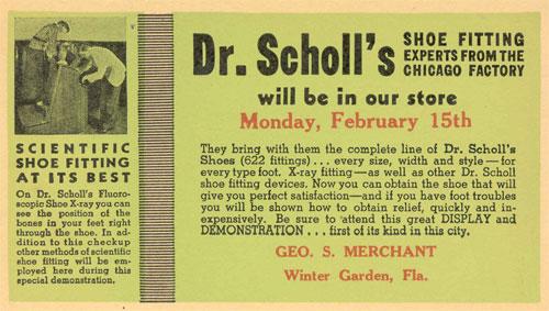 Shoe-Fitting Fluoroscope Advertisement