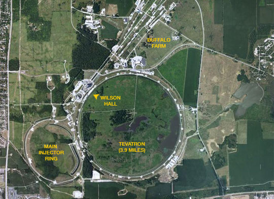 Map of Fermilab