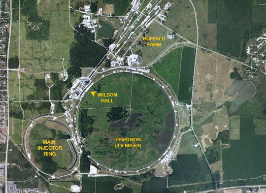 Map of Fermilab