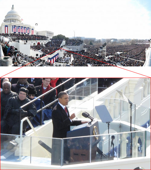 Huge photo of Obama's inauguration at Gigapan.org