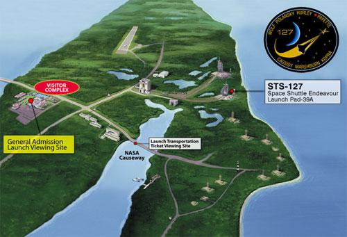 Map to NASA Causeway