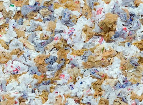 Pile of plastic bags