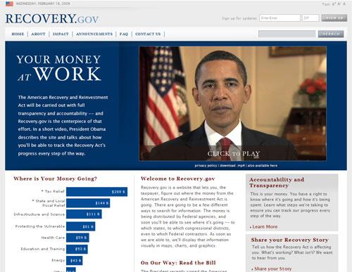 Recovery.gov screenshot