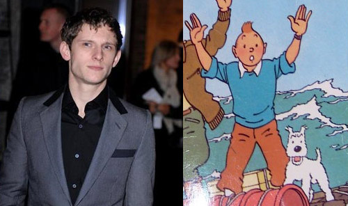 Jamie Bell as Tintin