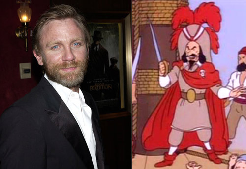 Daniel Craig as Red Rackham