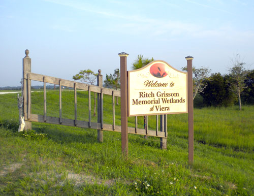 Entrance sign for Ritch Grissom Memorial Wetlands at Viera