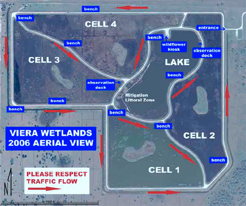 Map of Viera wetlands