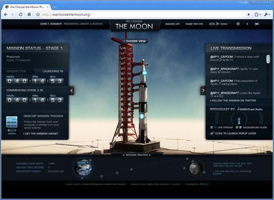 Screenshot of We Choose the Moon.org