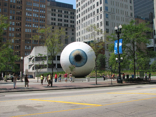 Eye and Cardinal by Tony Tasset