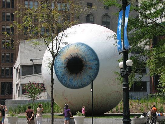 Eye and Cardinal by Tony Tasset