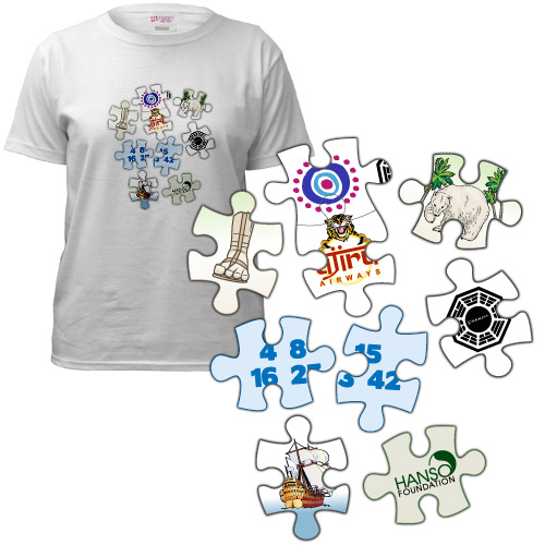 LOST puzzle pieces t-shirt
