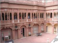 Courtyard, Bhanwar Niwas, Bikaner