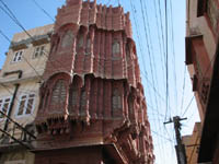 Architectural details in the old city of Bikaner, Rajasthan, India