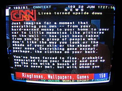 CNN teletext