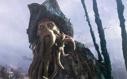 Davy Jones in Pirates of the Carribean 2