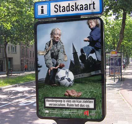 Leiden anti-dog poop poster