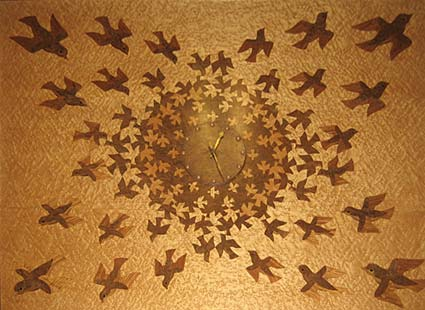 Escher intarsia work at Leiden Town Hall