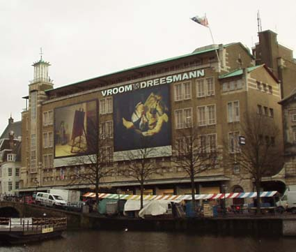 Huge Rembrandt posters in Leiden