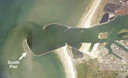 Bird's eye view of IJmuiden