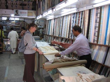 Amy picks cloth