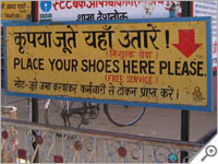 Leave shoes here, it's free!