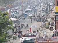 Crowded street in Jaipur, India