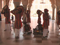 Musicians practice in Jaipur City Palace