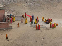 Ladies who laundry in Jaipur, India