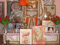 Interior of Monkey Temple in Jaipur, India