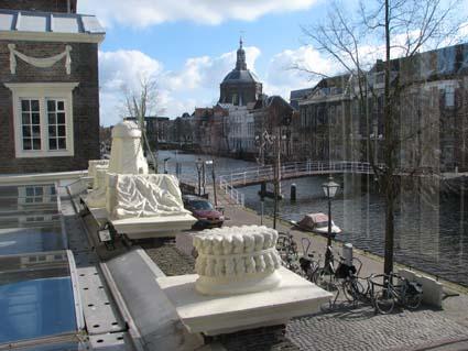 View outside the Leiden museum Lakenhal